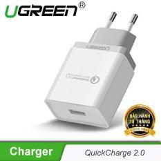 Sạc nhanh Quick Charge 2.0 chân cắm chuẩn Châu âu (EU) UGREEN CD122 20901- Hãng phân phối chính thức
