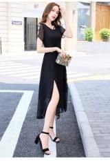 Đầm form dài voan chiffon xẻ đùi Misa Fashion MS307 đi chơi, dự tiệc / Có 3 màu