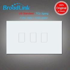 Công tắc cảm ứng điều khiển từ xa Broadlink TC2 US mặt chữ nhật (3 Nút bấm)