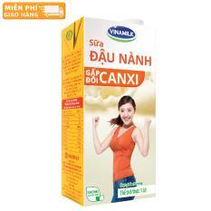 Thùng 12 Hộp Sữa đậu nành Vinamilk Gấp đôi Canxi có đường 1L (Hộp giấy)