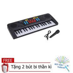 Đàn Piano điện tử có mic sành điệu cho bé MQ-3700 (Đen phối trắng(TẶNG 2 CÂY BÚT BI THẦN KÌ)