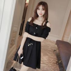 Váy Liền Chiffon Size Lớn Cổ V Dành Cho Nữ