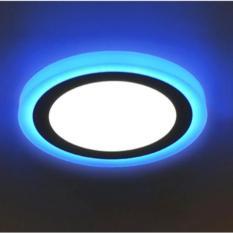 Đèn led ốp trần 24w tròn – 2 màu 3 chế độ trắng xanh dương