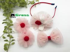 Set cài tóc hoa voan lưới cực mềm cho bé gái – MG Store