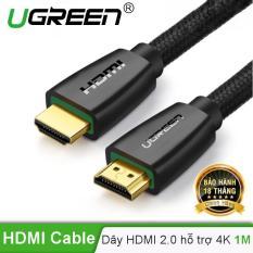 Cáp HDMI 2.0 hỗ trợ 3D , 4K dài 1m UGREEN HD118 40408 – Hãng phân phối chính thức