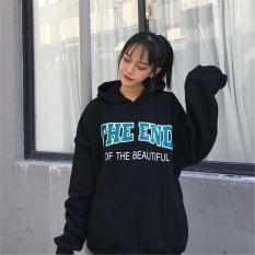 Áo Hoodie Nữ Chui Đầu Họa Tiết Chữ The END Thời Trang SoYoung WM TOP 121