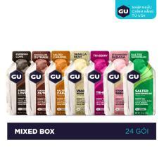 GEL NĂNG LƯỢNG GU ENERGY – MIXED BOX – HỘP 24 GÓI (7 VỊ)