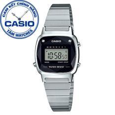 Đồng hồ nữ dây thép không gỉ Casio Standard Anh Khuê LA670WAD-1DF