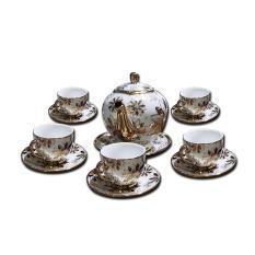 Bộ ấm chén pha trà , làm quà tặng cao cấp trang nhã – Huy Tưởng