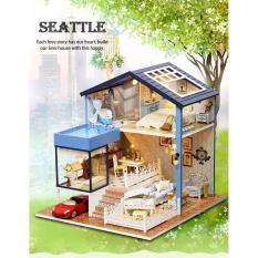 Mô hình nhà gỗ DIY- Nhà búp bê Seattle