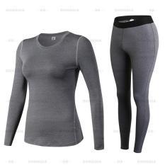 Quần áo thể thao NỮ dài tay 2in1 – 19D20, quần áo tập Yoga Gym siêu nhẹ chất vải cao cấp – DONGGIA