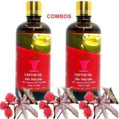 COMBO 2 CHAI DẦU THẦU DẦU ( CASTOR OIL ) 100ML | ẤN ĐỘ