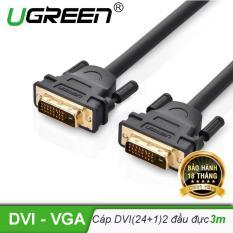 Cáp tín hiệu DVI-D (24+1) 2 đầu đực dài 3m UGREEN DV101 11607 (đen)
