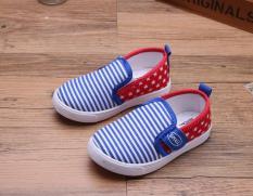 Giày lười cho bé trai có quay dán dễ mang RS162 (Xanh đỏ) Size 26 – 31