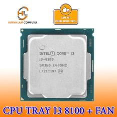 CPU Intel Core I3-8100 (TRAY) (3.6Ghz/ 6MB/ 1151 + Kèm Fan
