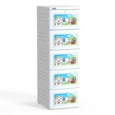 Tủ nhựa Duy Tân TANO 5 tầng – Hoa văn ngẫu nhiên