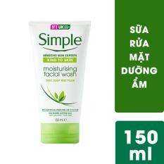 Sữa rửa mặt dưỡng ẩm dạng gel Simple Moisturising Facial Wash 150ml