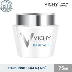 Kem dưỡng trắng da ban đêm- Mặt nạ ngủ Vichy Ideal White Sleeping Mask 75ml