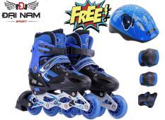 [Lấy mã giảm thêm 30%]Giày trượt patin trẻ em bánh phát sáng OS cao cấp + Tặng bộ bảo hộ