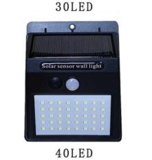 Đèn LED năng lượng mặt trời cảm ứng hồng ngoại solar 40LED (Đen)