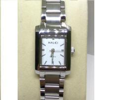 Đồng hồ nữ Halei 465 mặt chữ nhật màu trắng
