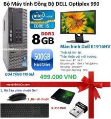 Bộ Máy Tính Đồng Bộ Dell Optiplex 990 (Core i5 / 8G / 500g) , Màn Hình Dell 18,5inch (Đen), Tặng Bàn phím chuột Dell , USB Wifi , bàn di chuột ,Bảo hành 24 tháng