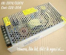 Nguồn tổng tổ ong camera đèn led loại dài12V 10A