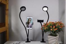 Bộ dụng cụ live stream kẹp bàn nhỏ gọn chuyên nghiệp có đèn LEDRING chống cận