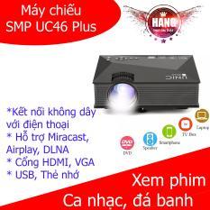 Máy chiếu SMP UC46 Plus hỗ trợ Airplay Micracast có loa ngoài (Đen)