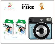 Máy chụp ảnh lấy ngay – Fujifilm Instax Square SQ6 Aqua Blue (Sản phẩm chính hãng) – Tặng 02 hộp film Square