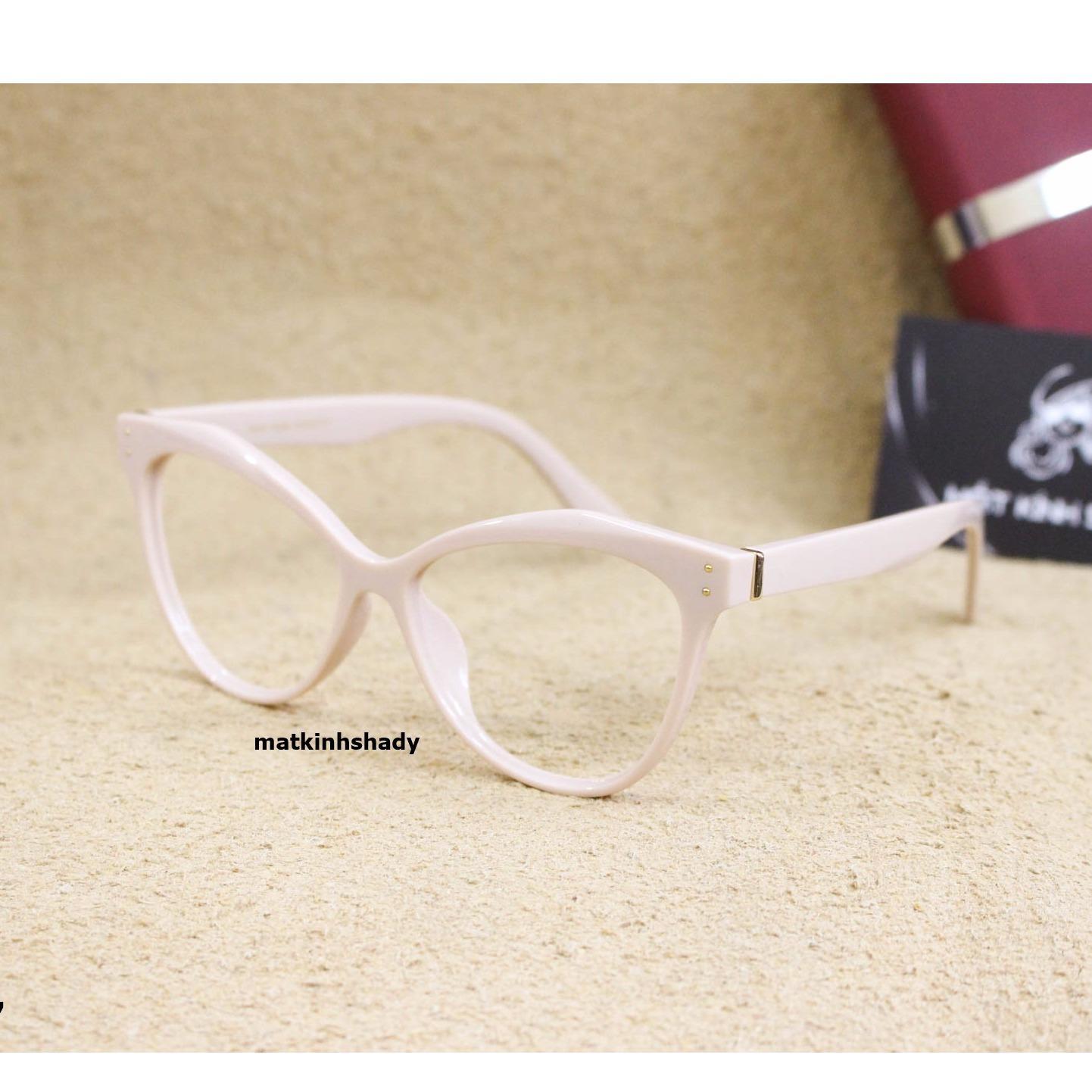 Gọng kính mắt mèo Shady G827.1 (Kem)