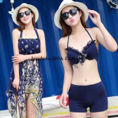 Đồ Bơi 2 Mảnh Kèm Đầm Xinh HLAT078 HOA LAN