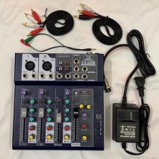 bàn trộn âm thanh mixer F4-USB