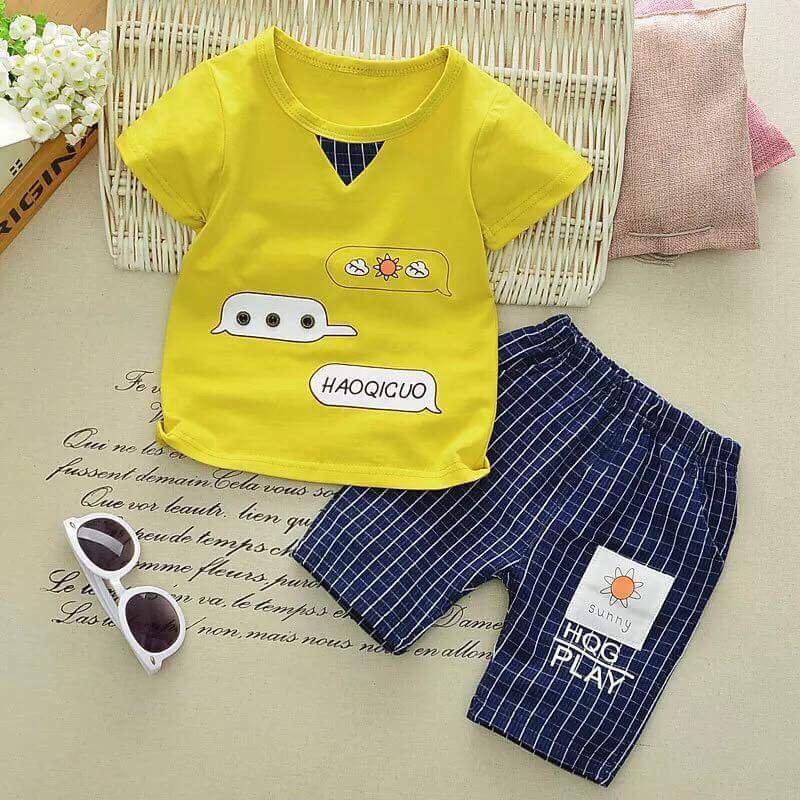 Bộ sunny cotton cho bé từ 1-5 tuổi