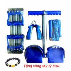 (Miễn phí Vòng tay tỳ hưu)Bộ dụng cụ tập thể dục đa năng Tummy và lò xo tập tay (Xanh)
