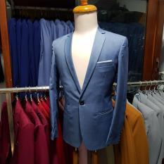 [Sale Sập Sàn] Áo Vest nam Form Ôm Body Màu Xanh Xám