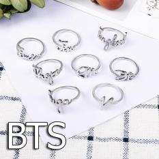 Nhẫn titan BTS Bangtan chạm khắc tinh xảo