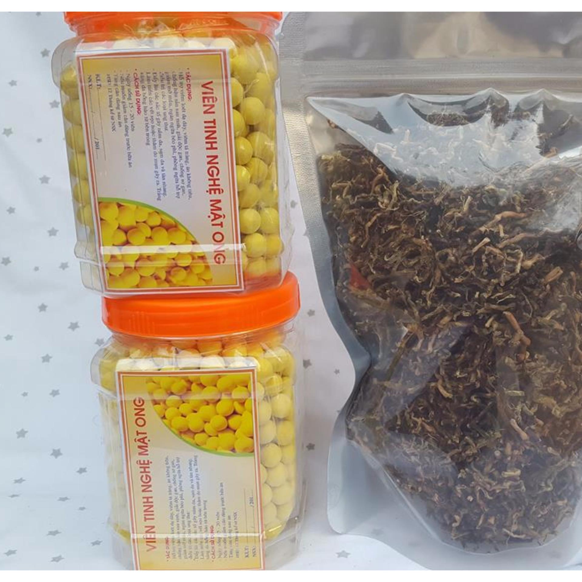 Viên Tinh bột nghệ mật ong 500g, làm đẹp, tăng cường sức khỏe, bổ máu, phòng chống ung thư