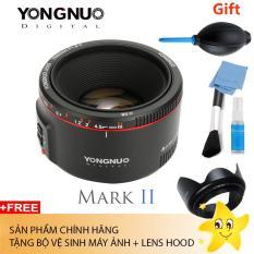 Ống kính Yongnuo 50 F1.8 II for Canon (Tặng bộ vệ sinh máy + lens hood)