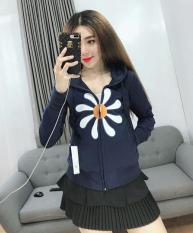 Áo khoác nữ da cá in hoa thời trang