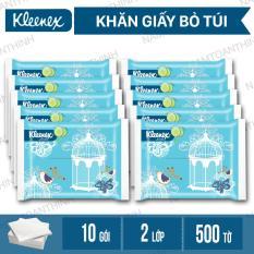 Bộ 10 Giấy túi Kleenex Vintage Soft Pack 2 lớp x 50 tờ / 1 bịch [ TTN – GVS VN 10 ]