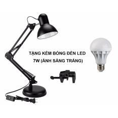 }Đèn Kẹp Đa Năng Cho Phòng Làm Việc Tặng Kèm Bóng Đèn 7W