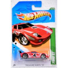 Xe ô tô mô hình tỉ lệ 1:64 Hot Wheels Treasure Hunts Ford GT ( màu Cam )
