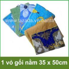 1 vỏ gối nằm nhỏ 35 x 50cm dùng cho ruột gối nhỏ trẻ em cotton đẹp mắt, may viền (giao màu ngẫu nhiên)