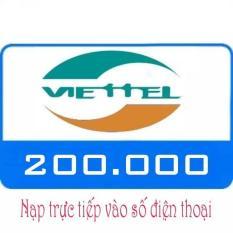 Nạp tiền Viettel 200k trả sau