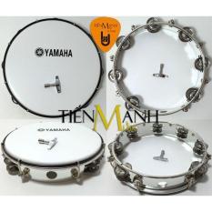 Trống lắc tay – Lục lạc gõ bo Tambourine Yamaha MT6-102A (Trắng – Trống chơi nhạc chế gõ po – Xipo – Tặng móng gẩy Tiến Mạnh Music)