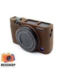 Phụ kiện – Bao Silicon dùng cho máy ảnh Sony Rx100M3 – Rx100M4 – Rx100M5 – Màu nâu – Hàng nhập khẩu