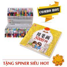 Combo Cho Bé: Vở tập tô màu 5000 mẫu + Hộp 64 màu vẽ+tặng free spiner siêu hot(CB5000+64mau)