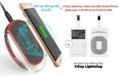 ban sac android – Đế sạc không dây Qi BSH001 Fantas + Kèm Bo mạch sạc không dây Chân Lightning cho Iphone5,6,7,8,X – Uy tín BH 1 đổi 1 tại BigShop -bán sạc điện thoại