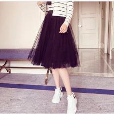 Chân váy dài ren công chúa tulle siêu kute ( Freesize) màu đen
